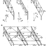Stężenia pionowe podłużne kratowych dachów hal
