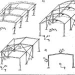 Konstrukcja hali stalowej o ramowych układach poprzecznych
